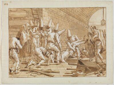Giovanni Domenico Tiepolo, 'The Burial of Punchinello', ca. 1800