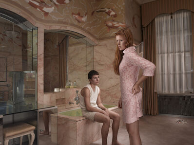 Julia Fullerton-Batten, 'Awkward Series: Bathroom', 2011