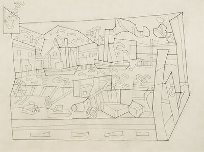 "Stuart Davis, 'Study for ""Smith's Cove""', ca. 1941"