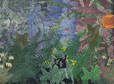 Julia Lucey, 'Coyotes in Cow Parsnip and Pacific Hounds Tongue', 2020