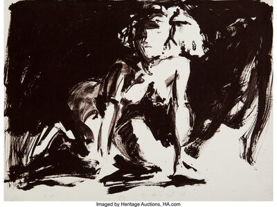 Eric Fischl, 'Annie, Gwen, Lilly, Pam, and Tulip (Woman on all fours)', 1986