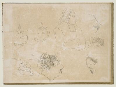 Edgar Degas, 'Caricature Sketches', 1877