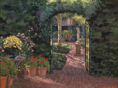 Sergio Roffo, 'Reading Garden at The Charlotte Inn', Active Contemporary