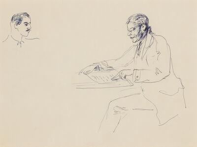Guy Pène du Bois, 'Untitled (Man at Table, Reading)'