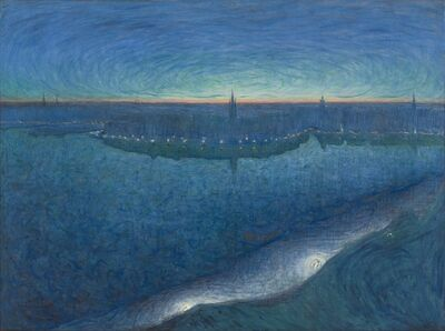 Eugène Jansson, 'Dawn over Riddarfjarden', 1899