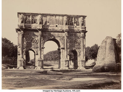 James Anderson, 'Arch of Constantine, Rome, Italy, and View of Roman Forum, Rome, Italy (Two works)', Late 19th Century