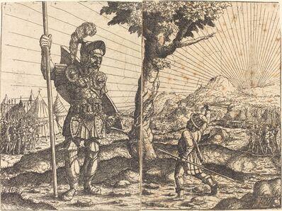 Hans Sebald Lautensack, 'David and Goliath', 1551