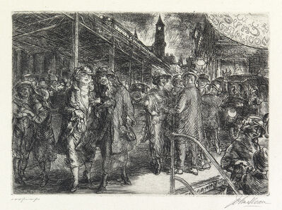 John Sloan, 'Sixth Ave, Greenwich Village', 1923