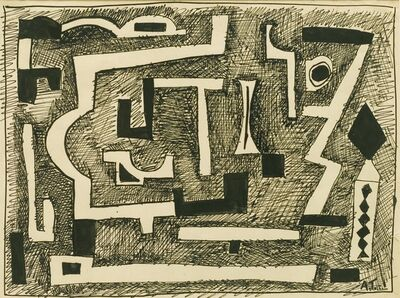 Augusto Torres, 'Forms in black', 1937