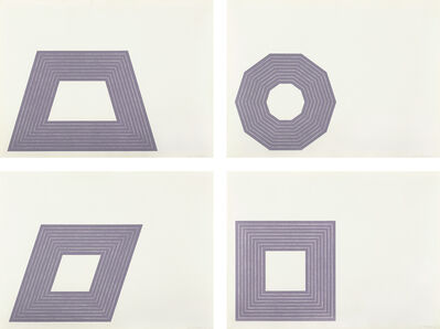 Frank Stella, 'Ileana Sonnabend; D.; Carl Andre; and Hollis Frampton, from Purple Series', 1972
