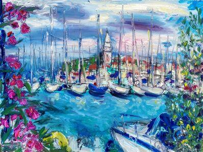 Norma de Saint Picman, 'Water series summer 2019 - plein air in situ paintings, Isola, Marina', 2019