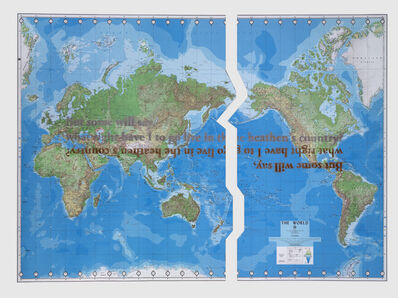Sam Durant, 'The World (Defense Mapping Agency)', 2010