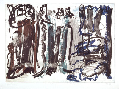 """Per Kirkeby, 'Untitled (from the portfolio """"For Joseph Beuys"""")', 1986"""
