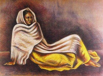 Raúl Anguiano, 'Resting girl', 1988