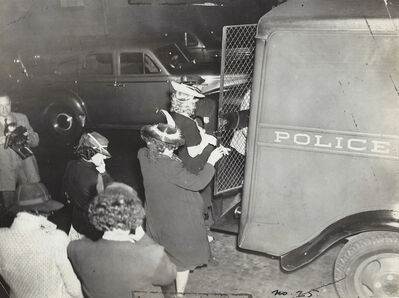 Weegee, 'Girl's Arrested at Swift's Place ( a disorderly house)', ca. 1930 -39
