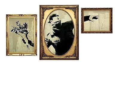 Banksy, 'Thrower', 2020