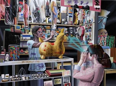 Shih Yung Chun, 'Taipei x Hong Kong.E - Riding Rody's Body Check at Toy Store 台北x香港.E - 跳跳馬在玩具店健康檢查', 2015