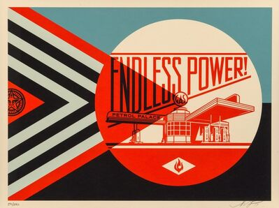 Shepard Fairey, 'Endless Power Petrol Palace (Blue)', 2019