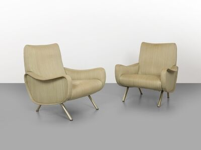 Marco Zanuso, 'Two 'Lady' armchairs', 1951