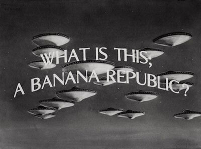 Gonzalo Fuenmayor, 'What is this a Banana Republic?', 2019
