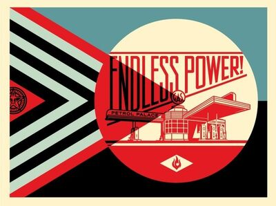 OBEY, 'ENDLESS POWER PETROL PALACE (BLUE)', 2019