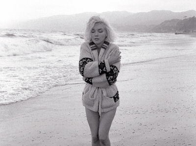 George Barris, 'Lost In Thought, Santa Monica Beach, 1962', 1962