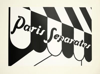 Patrick Caulfield, 'Paris Separates (Cristea 36)', 1974