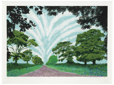 David Hockney, 'Summer Sky', 2008