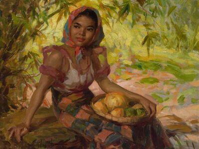 Fernando Cueto Amorsolo, 'Girl with Mangos', 1950