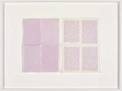 Irma Blank, 'Autoritratto 5', 1981