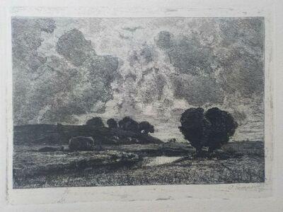Otto Gampert, 'Sommerlandschaft bei Höchstädt', ca. 1900