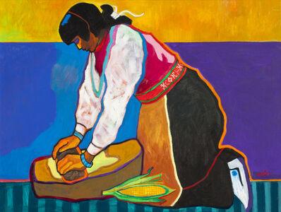 John Nieto, 'Grinding Corn Red Belt', 2015