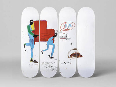 Jean-Michel Basquiat, 'Light Blue Movers Skate Decks (Set of 4)', 2016