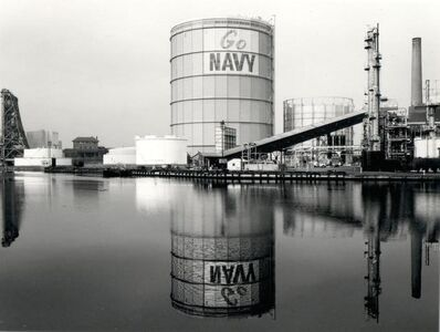 Ray Mortenson, 'Gas Tank (Go Navy) from the Passaic River', 1982