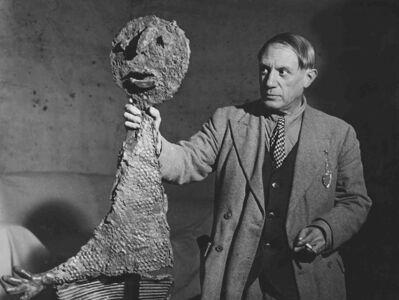 """Brassaï, 'Picasso with His Sculpture, """"The Speaker""""', 1939c/1960c"""