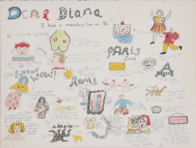 Niki de Saint Phalle, 'Dear Diana I had a marvelous time ', 1969