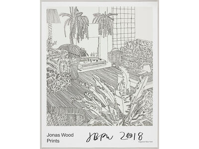 Jonas Wood, 'Gagosian Poster (Signed)', 2018