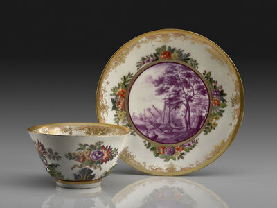 Meissen Porcelain Factory, 'Saucer and Tea Bowl'