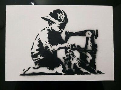 "Banksy, 'BANKSY DISMALAND ""SLAVE LABOUR"" WITH COA', 2015"