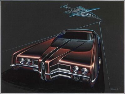 Homer C. LaGassey, 'Long Nose Ford Thunderbird Proposal', 1970