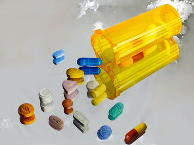 Shimon Okshteyn, 'Pills (Yellow Container)', 2010