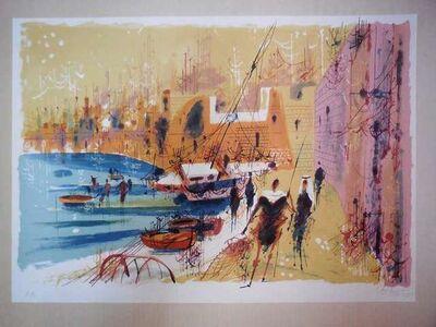 Shmuel Katz, 'Port of Old Jaffa, Tel Aviv Lithograph', 20th Century
