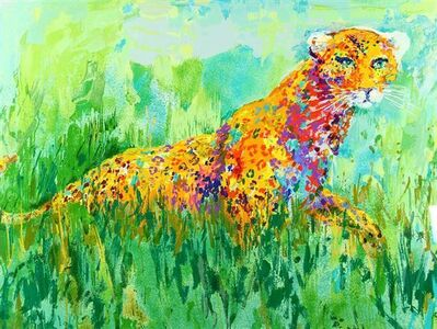 LeRoy Neiman, 'Prowling Leopard - Limited Edition Lithograph by LeRoy Neiman', 2002