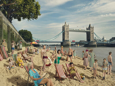 Julia Fullerton-Batten, 'Bathing by Tower Bridge', 2018