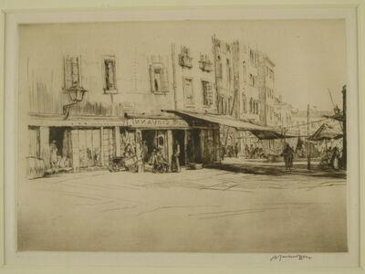 Muirhead Bone, 'Campo, Venice', ca. 1920