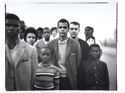 Richard Avedon, 'Student Non-Violent Coordinating Committee headed by Julian Bond, Atlanta Georgia March 23', 1963