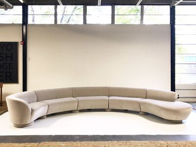 Vladimir Kagan, 'Cloud Sofa Restored in Loro Piana Grey Velvet', mid 20th Century