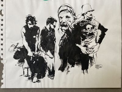 Mark Maggiori, 'Bikers Original Ink (Encre de chine)', 2011