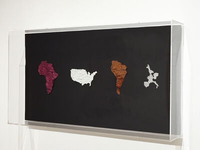 Joyce J. Scott, 'Map of Africa, Manifest Destiny, Map of South America, Before White People', 2017