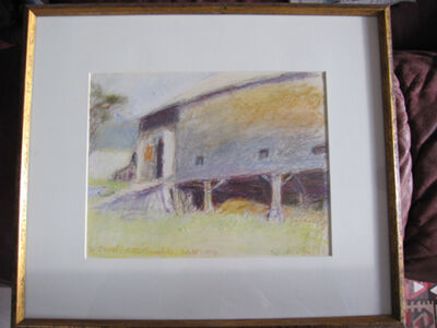 Wolf Kahn, 'Study for Painting, Underside of the Barn (Oil owned by Robert Redford)', 1970